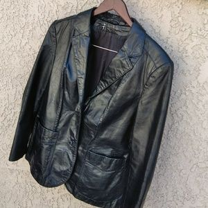 🆕🆙🚺VIN leather jacket blazer